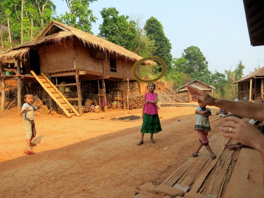 Playing Frisbee in Myanmar
