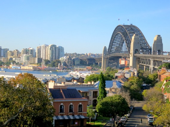Sydney skyline with bridge