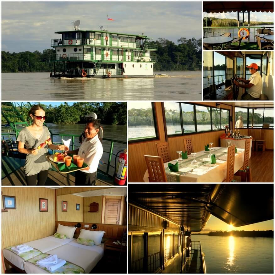 Ecuadorian Amazon river boat