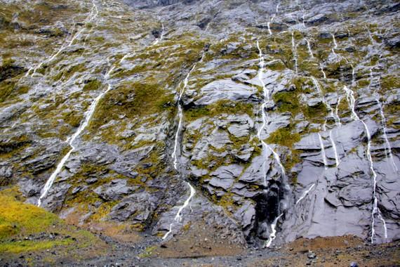 Milford rain waterfalls