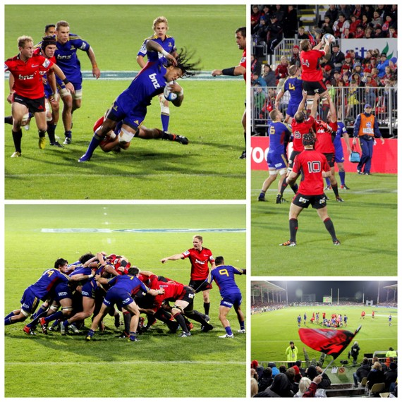 Crusaders vs Highlanders rugby
