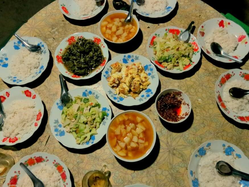 Meals on Hsipaw Trek