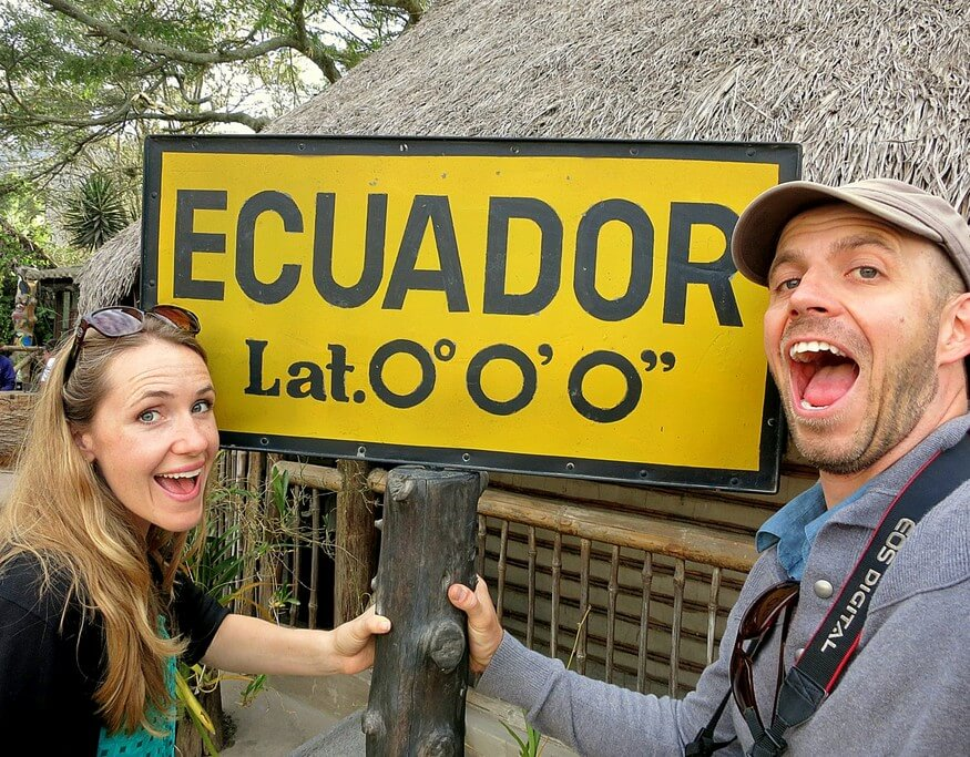 Ecuador equator sign