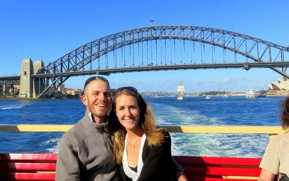 Ferry ride to Sydney Harbor