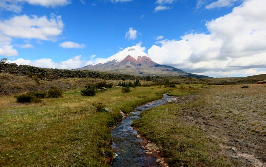 Cotopaxi volcano river