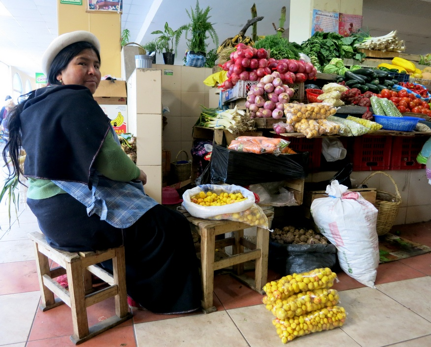 Andean market stall