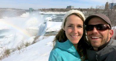 Our Anniversary at Frozen Niagara Falls