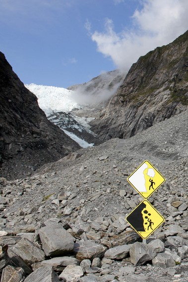 Glacier Avalanche sign