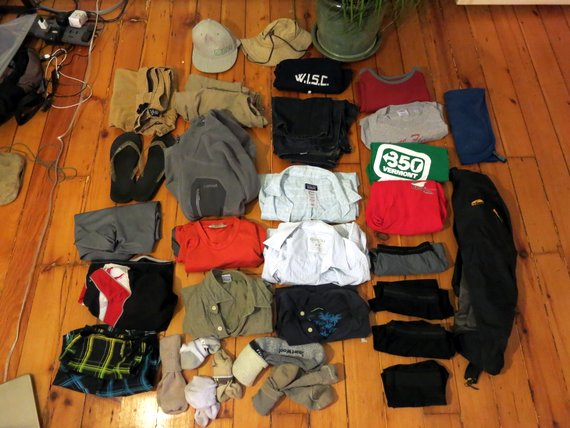 RTW men's packing list