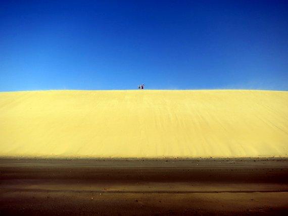 Jericoacoara dunes at sunset