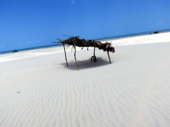 Sand dunes eat chair at Jericoacoara