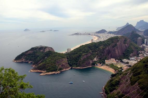 Copacobana and Impanema from the top of Pao de Asucar