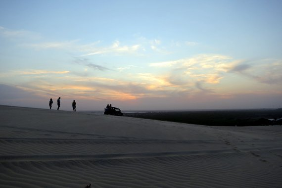 sunset on the dunes