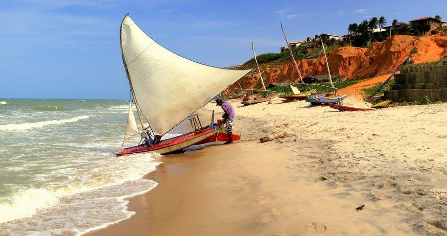 sailor on canoa quebrada beach