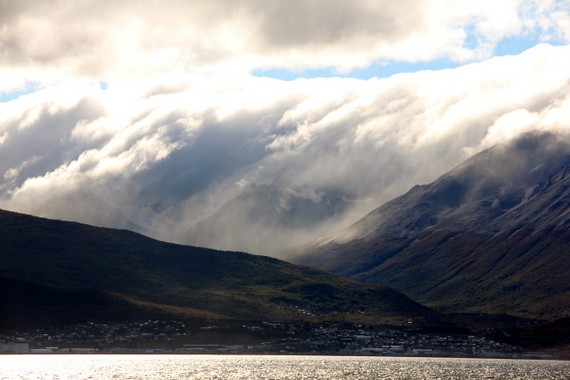 Ushuaia under cloud cover