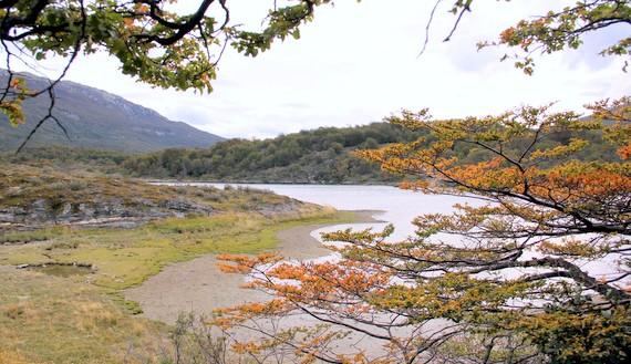 Coastal plains and windy rivers in Tierra del Fuego