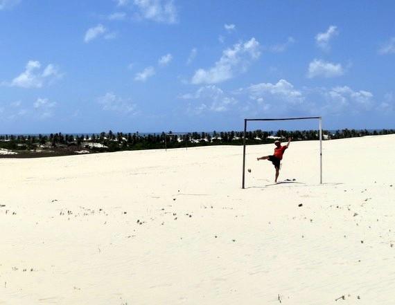 Brazil Soccer on Sand in Mangue Seco