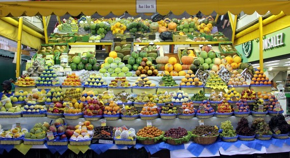 Excotic fruits in Brazil