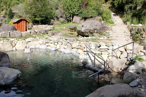 Hot Springs at Los Pozones in Pucon Chile