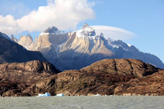 Cloud formations over Torres del Paine, Patagonia