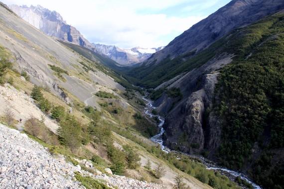 Start of hike up to Torres peaks, Patagonia