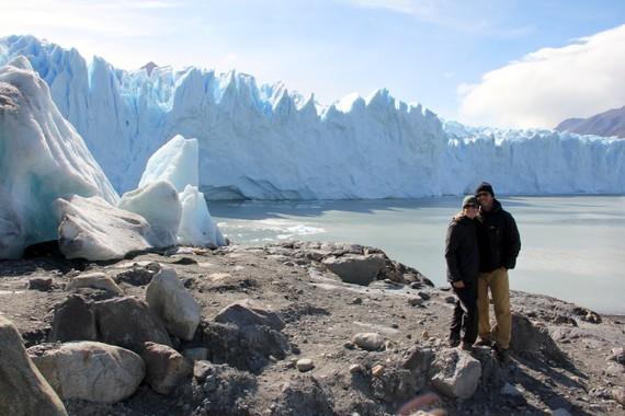 Mike and Anne at Perito Moreno