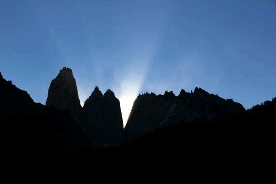 Sunset over Torres del Paine from EcoCamp