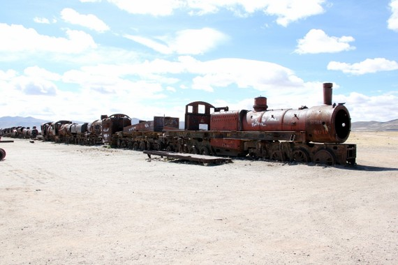 Train Graveyard on the outskirts of Uyuni Bolivia
