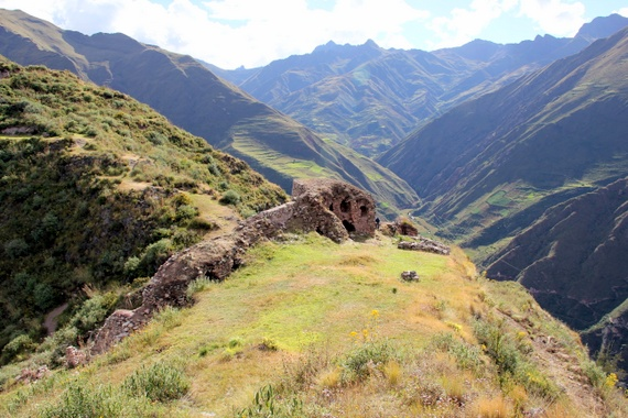 Huatta, a breathtaking pre-Inca fortress dominating the crest of a ridge at 12,645ft Andean Treks