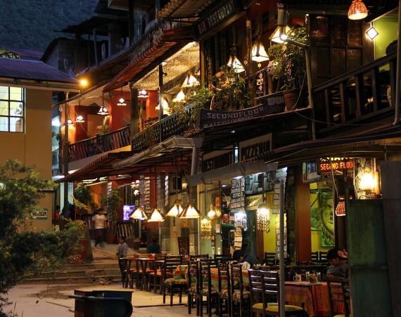 Andean Treks in bustling town of Agua Calientes