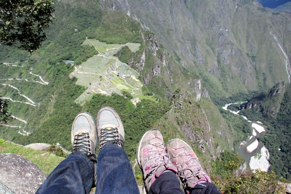 View of Machu Picchu from Huayna Picchu with Andean Treks