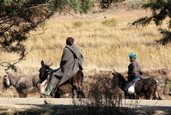 How do you get around Lesotho