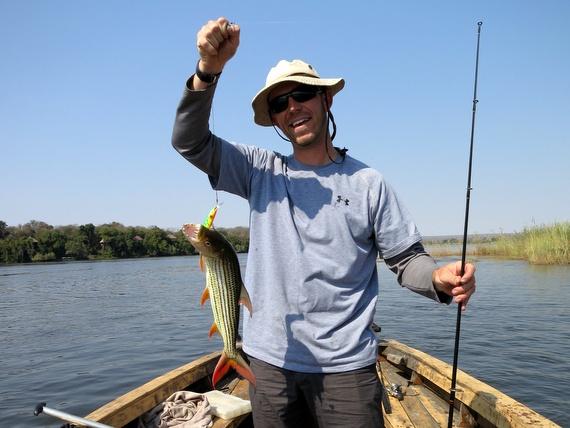 Catching Tiger Fish on the Zambezi river, Zambia
