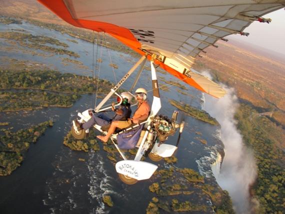 HoneyTrek on Microlight over Victoria Falls