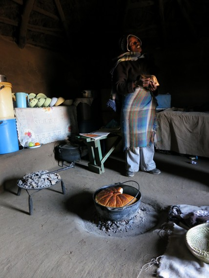 Bread and Beer in Lesotho, White, Green, Red flags