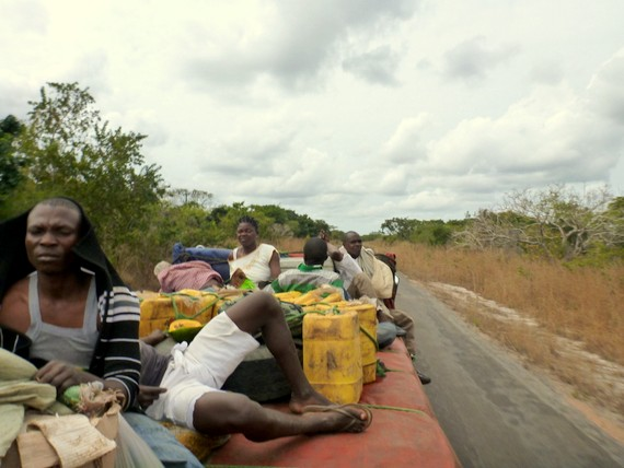 Hitchhiking from Mozambique to Tanzania on an 18-wheeler