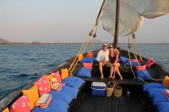 Dhow trip at Pumulani on Lake Malawi