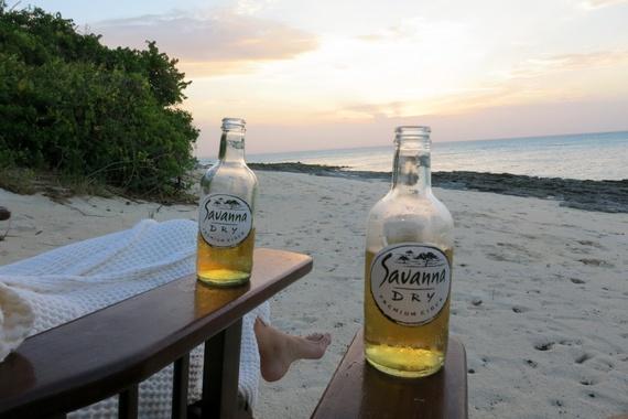 Savanna Dry sun-downers on Medjumbe private island