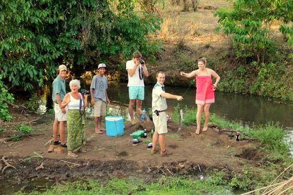 Fishing at Meru Offbeat Safaris