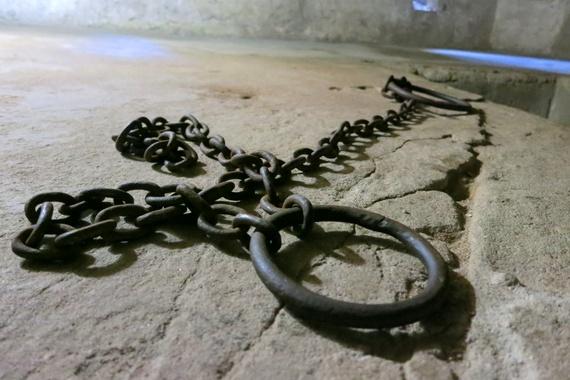 Slave chambers on Zanzibar Tanzania