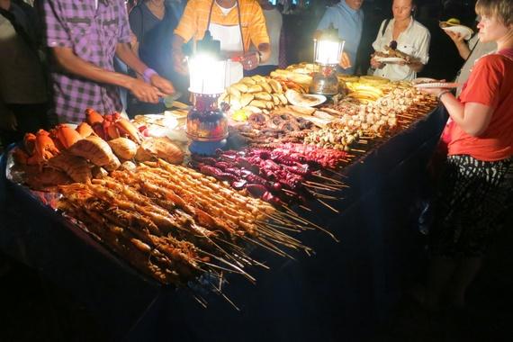 House of Wonders museum, a night market on Zanzibar, Tanzania