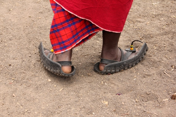 Tire shoes in Tanzania