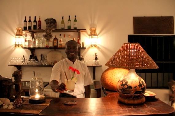 Custom HoneyTrek cocktail at Kinondo Kwetu, Kenya