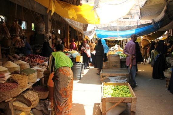 Local market in Lamu Kenya