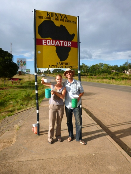 Visiting the African equator