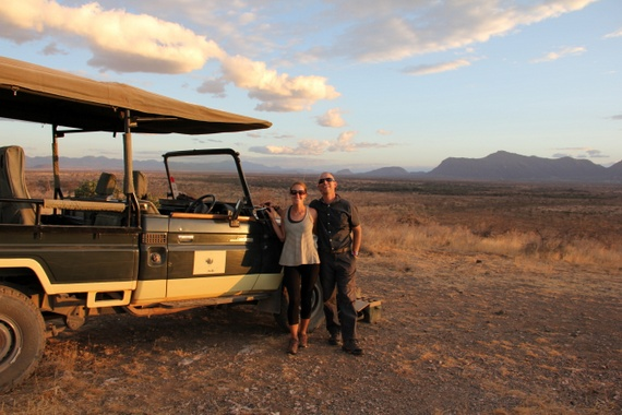 Joy's Camp Safari sundowners