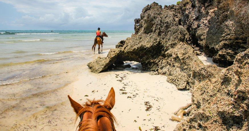 Diani Beach horseback riding