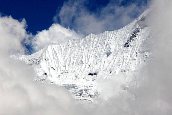 Kangsar Kang mountain with snow