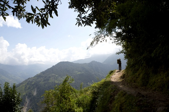 Mike Howard on a Trek in Nepal