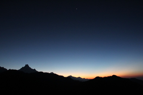 Sunrise over Annapurna Mountain Range from Poon Hill
